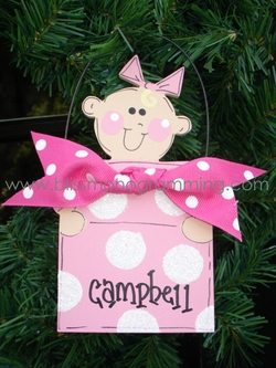 Baby in Present<br>Christmas Ornament