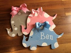 Baby Elephant Plaque