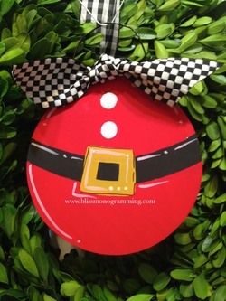 Ball Santa Belt<br>Christmas Ornament<br>SOLD OUT!
