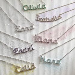 Birthstone Name Necklace<br>SOLD OUT!