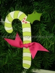 Candy Cane (Green)<br>Christmas Ornament