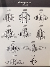 Delavan Monogram Note<br>Embossed