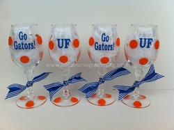 College Acrylic Wine Glass