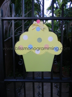 Cupcake Door Plaque - Green