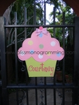 Cupcake Door Plaque - Pink
