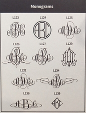 Delavan Monogram Card<br>Raised Ink