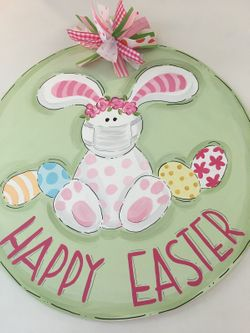 Easter Bunny Door Plaque