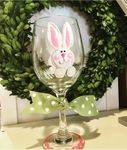 Easter Wine Glass