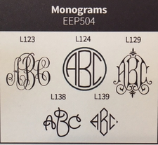 Henley Framed Monogram Enclosure<br>Embossed