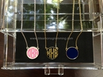 Enamel Monogram Disc Necklace<br>SOLD OUT!