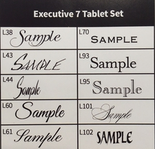 Executive 7-Tablet Set with Holder