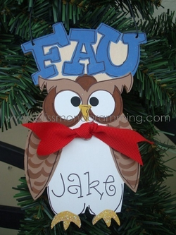 FAU Owl<br>Christmas Ornament