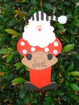 Football Santa<br>Christmas Ornament