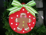 Gingerbread Ball<br>Christmas Ornament<br>SOLD OUT