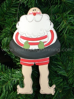Inner Tube Santa<br>Christmas Ornament
