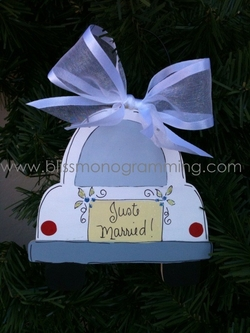 Just Married<br>Christmas Ornament