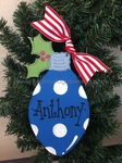 Lightbulb (BLUE)<br>Christmas Ornament