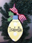 Lightbulb (YELLOW)<br>Christmas Ornament