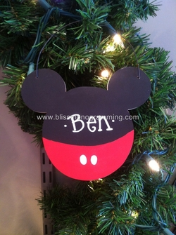 Mouse Ears Boy<br>Christmas Ornament