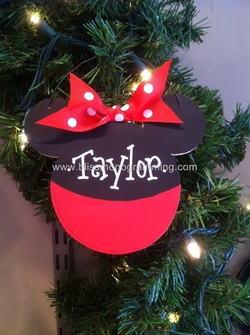 Mouse Ears Girl<br>Christmas Ornament