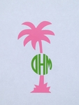 Palm Tree Car Monogram