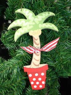 Palm Tree in Pot<br>Christmas Ornament<br>SOLD OUT!