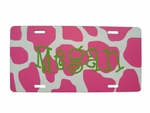 Pink Giraffe License Plate