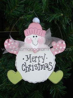 Pink Snowball Snowman<br>Christmas Ornament<br>SOLD OUT