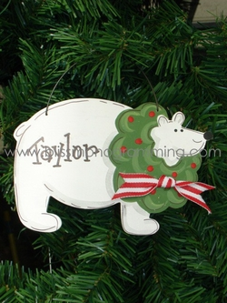 Polar Bear<br>Christmas Ornament