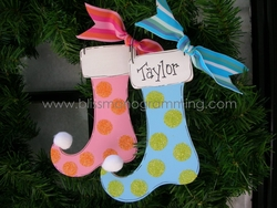 Polka Dot Stocking<br>Christmas Ornament<br>SOLD OUT!