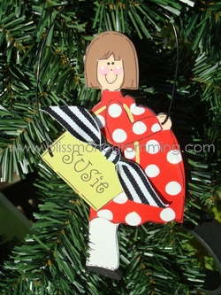 Pregnant Shopper<br>Christmas Ornament