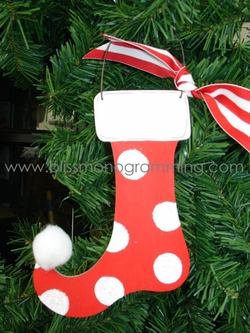 Red Dot Stocking<br>Christmas Ornament