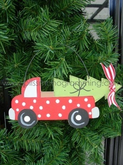 Red Pickup Truck<br>Christmas Ornament