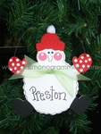 Red Snowball Snowman<br>Christmas Ornament<br>SOLD OUT