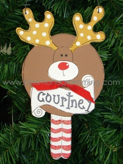 Round Reindeer<br>Christmas Ornament<br>SOLD OUT!