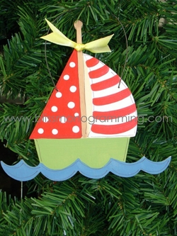 Sailboat<br>Christmas Ornament