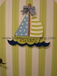 Sailboat Door Plaque