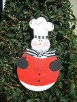 Snowman Chef<br>Christmas Ornament