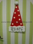 Santa Hat Door Plaque