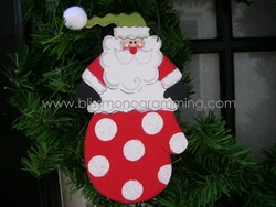 Santa in a Red Mitten<br>Christmas Ornament