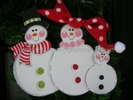 Snow Family of 3<br>Christmas Ornament<br>SOLD OUT