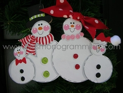 Snow Family of 4<br>Christmas Ornament