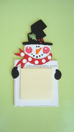 Snowman<br>Sticky-Note Holder