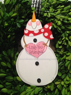 Snowman Up Nose<br>Christmas Ornament<br>SOLD OUT