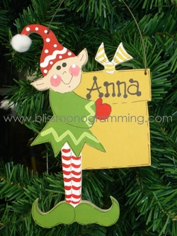 Standing Elf with Present<br>Christmas Ornament
