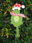 Tall Frog with Hat<br>Christmas Ornament