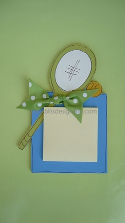 Tennis<br>Sticky-Note Holder