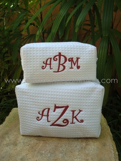 Waffle Cosmetic Bag Set<br>College Colors