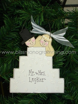 Wedding Cake Couple<br>Christmas Ornament<br>SOLD OUT!