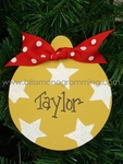 Yellow Star Ball<br>Christmas Ornament<br>SOLD OUT
